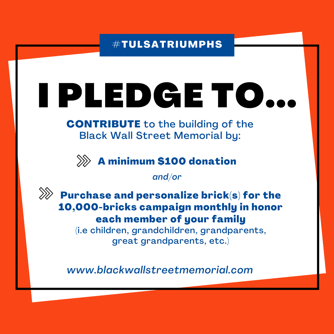 pledge graphic - black wall street memorial