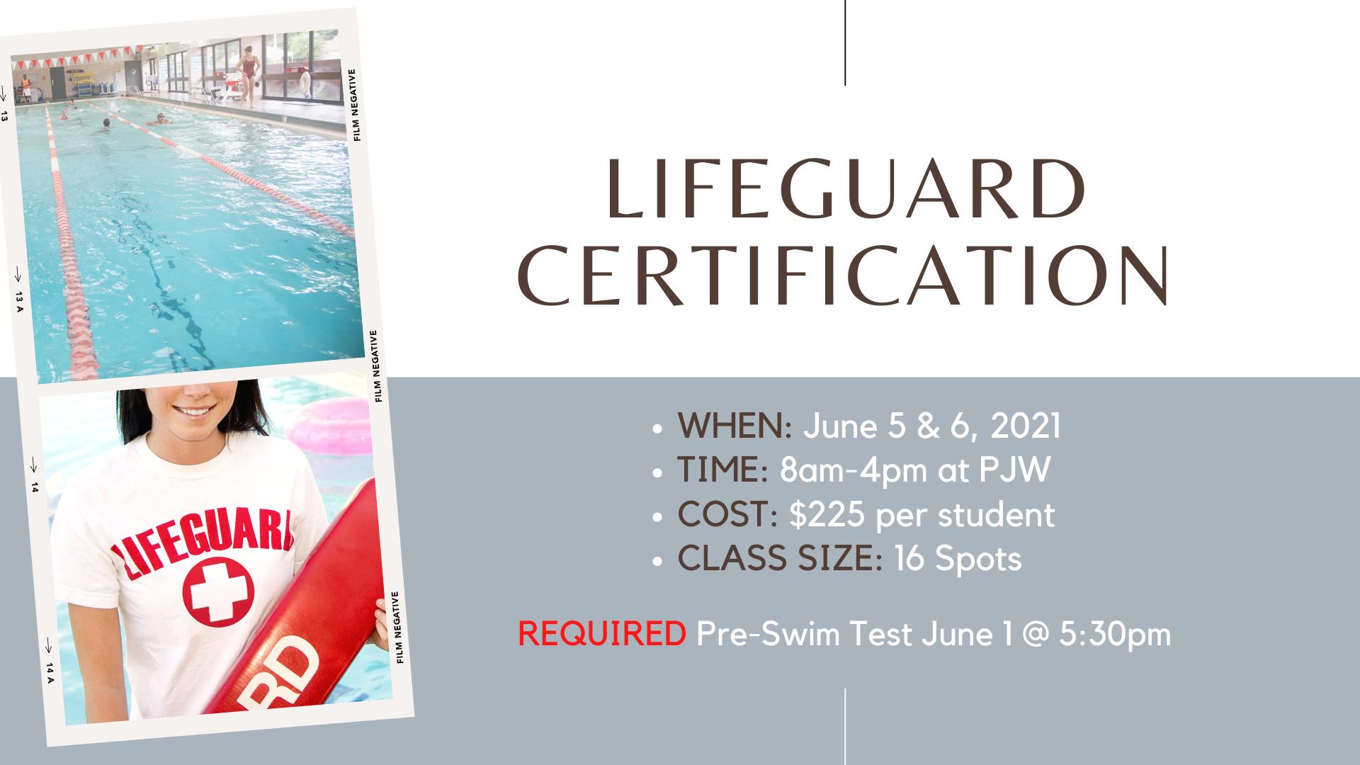 lifeguard certification for june